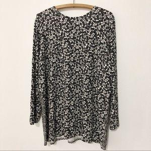 J Jill Wearever Floral Shirt Dress Women's XL